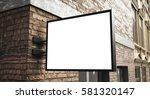 3d rendreing of signboard  | Shutterstock . vector #581320147