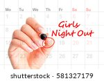 a date for girls night out  ... | Shutterstock . vector #581327179