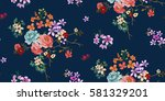 seamless floral pattern in... | Shutterstock .eps vector #581329201