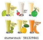 juice fruit vector | Shutterstock .eps vector #581329861