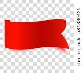 ribbon sticker. vector... | Shutterstock .eps vector #581330425