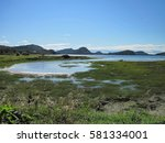 waves of mountains in the bic... | Shutterstock . vector #581334001