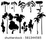 vector illustration. set with... | Shutterstock .eps vector #581344585