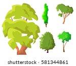 vector illustration. set of... | Shutterstock .eps vector #581344861