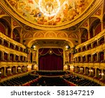 Small photo of BUDAPEST, HUNGARY- NOVEMBER 27 2016: Interior of the Hungarian Royal State Opera House, considered one of the architect's masterpieces and has the third best acoustics in Europe.