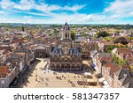 panoramic aerial view of delft... | Shutterstock . vector #581347357