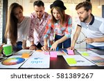group of young business people... | Shutterstock . vector #581389267