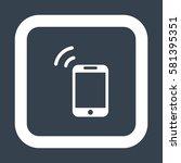 smartphone icon  flat design...