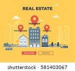 the real estate advertisement... | Shutterstock .eps vector #581403067