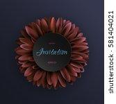 dark red gerbera flower on dark ... | Shutterstock .eps vector #581404021
