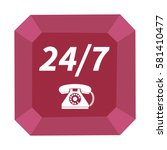 24 7 support phone icon....   Shutterstock . vector #581410477