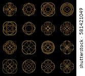 calligraphic design elements... | Shutterstock .eps vector #581421049