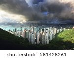 hong kong from victoria peak | Shutterstock . vector #581428261