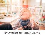 Cute Smiling Little Toddler Bo...