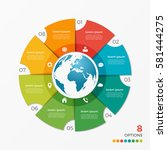 circle chart infographic...   Shutterstock .eps vector #581444275