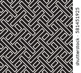 maze tangled lines contemporary ... | Shutterstock .eps vector #581451925
