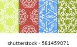 set of decorative floral... | Shutterstock .eps vector #581459071