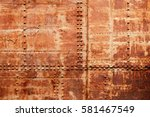 Old Rusted Ship Hull Fragment ...