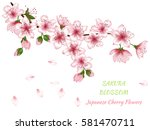 vector illustration of spring... | Shutterstock .eps vector #581470711