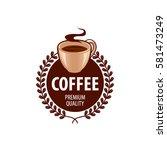 coffee cup foam logo design... | Shutterstock .eps vector #581473249