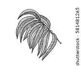hand drawn illustration of... | Shutterstock . vector #581481265