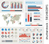 world map infographic. vector...   Shutterstock .eps vector #581482891