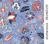 seamless pattern with fantasy... | Shutterstock .eps vector #581483155