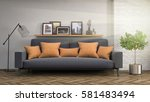 interior with sofa. 3d... | Shutterstock . vector #581483494