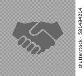 handshake vector icon. hands... | Shutterstock .eps vector #581484214