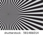 black and gray  Sunbrust Pattern. Vector illustration