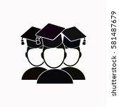 students  icon vector design. | Shutterstock .eps vector #581487679