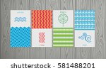 nature 4 elements  logo sign.... | Shutterstock .eps vector #581488201