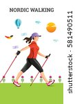 vector illustration poster with ... | Shutterstock .eps vector #581490511