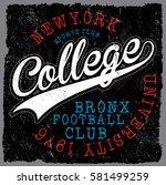 new york  varsity sport vector... | Shutterstock .eps vector #581499259
