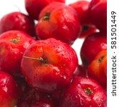 Small photo of Brazilian Acerola Cherry isolated on white background
