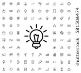 bulb icon illustration isolated ... | Shutterstock .eps vector #581506474