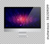 realistic computer monitor with ... | Shutterstock .eps vector #581509099
