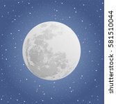 moon on blue background with... | Shutterstock .eps vector #581510044