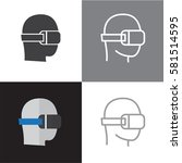 vr virtual reality icons   Shutterstock .eps vector #581514595