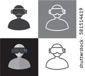 vr icons and virtual reality... | Shutterstock .eps vector #581514619