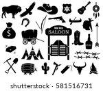 cowboy  western  wild west icon ... | Shutterstock .eps vector #581516731