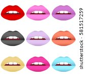 painted lips  to paint her lips ... | Shutterstock .eps vector #581517259