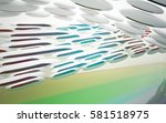 abstract dynamic interior with... | Shutterstock . vector #581518975