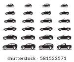 various modern cars   vector... | Shutterstock .eps vector #581523571