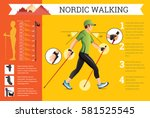 vector illustrated infographics ... | Shutterstock .eps vector #581525545