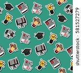 colored e education pattern. | Shutterstock .eps vector #581527279