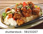 Sweet And Sour Pork And Rice....