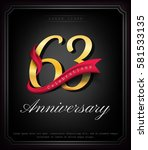 anniversary emblems 63... | Shutterstock .eps vector #581533135