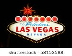 the famous landmark welcome to... | Shutterstock . vector #58153588