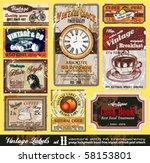 vintage labels collection  ... | Shutterstock .eps vector #58153801